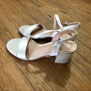 London Rebel bridal mid block heel